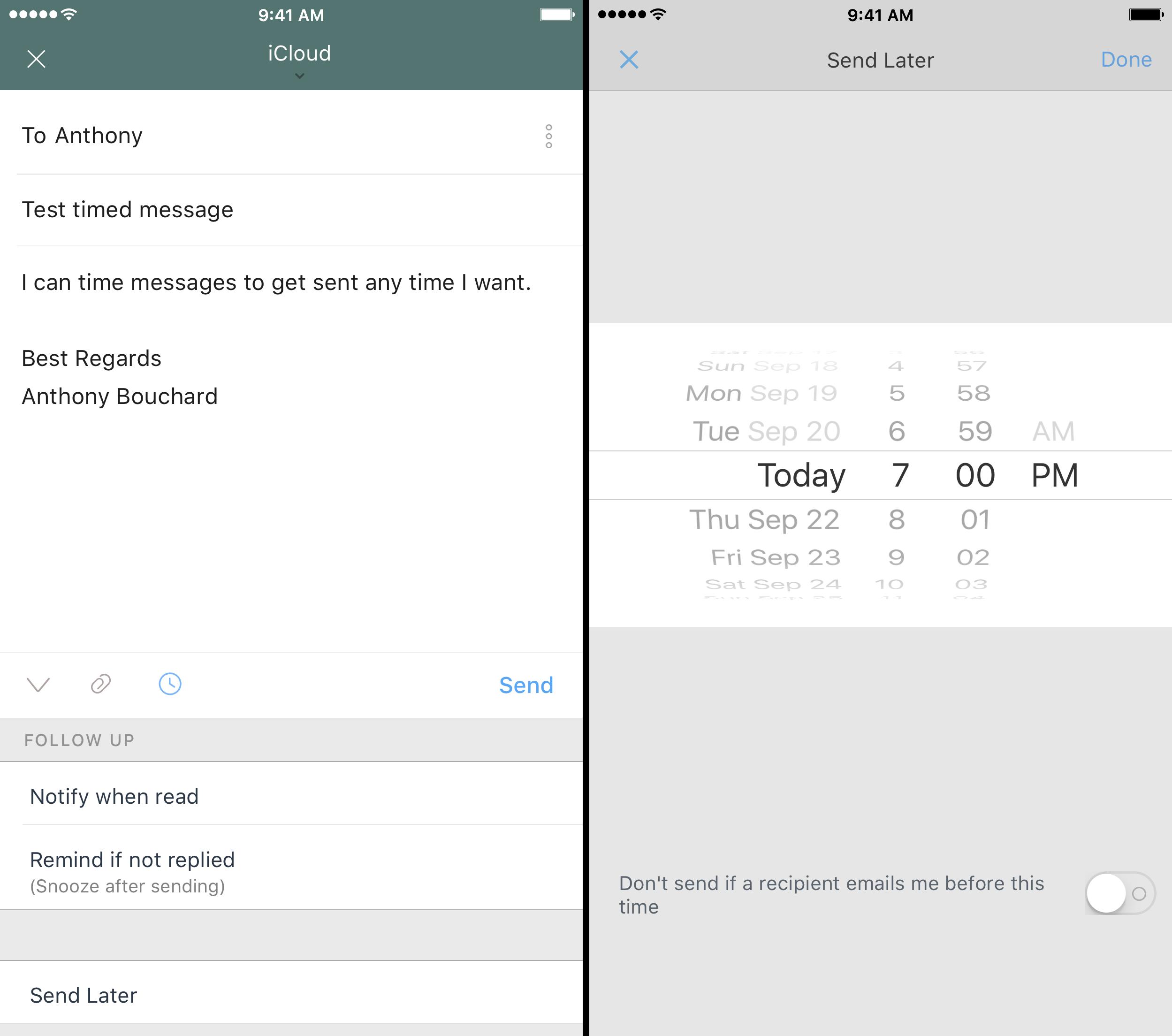 newton-schedule-messages