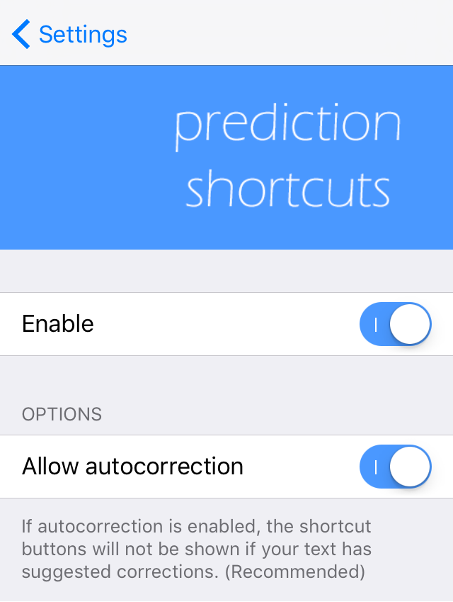 PredictionShortcuts Preferences Pane