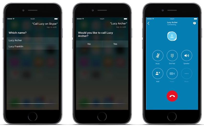 Skype for iOS CallKit SiriKit integration 001