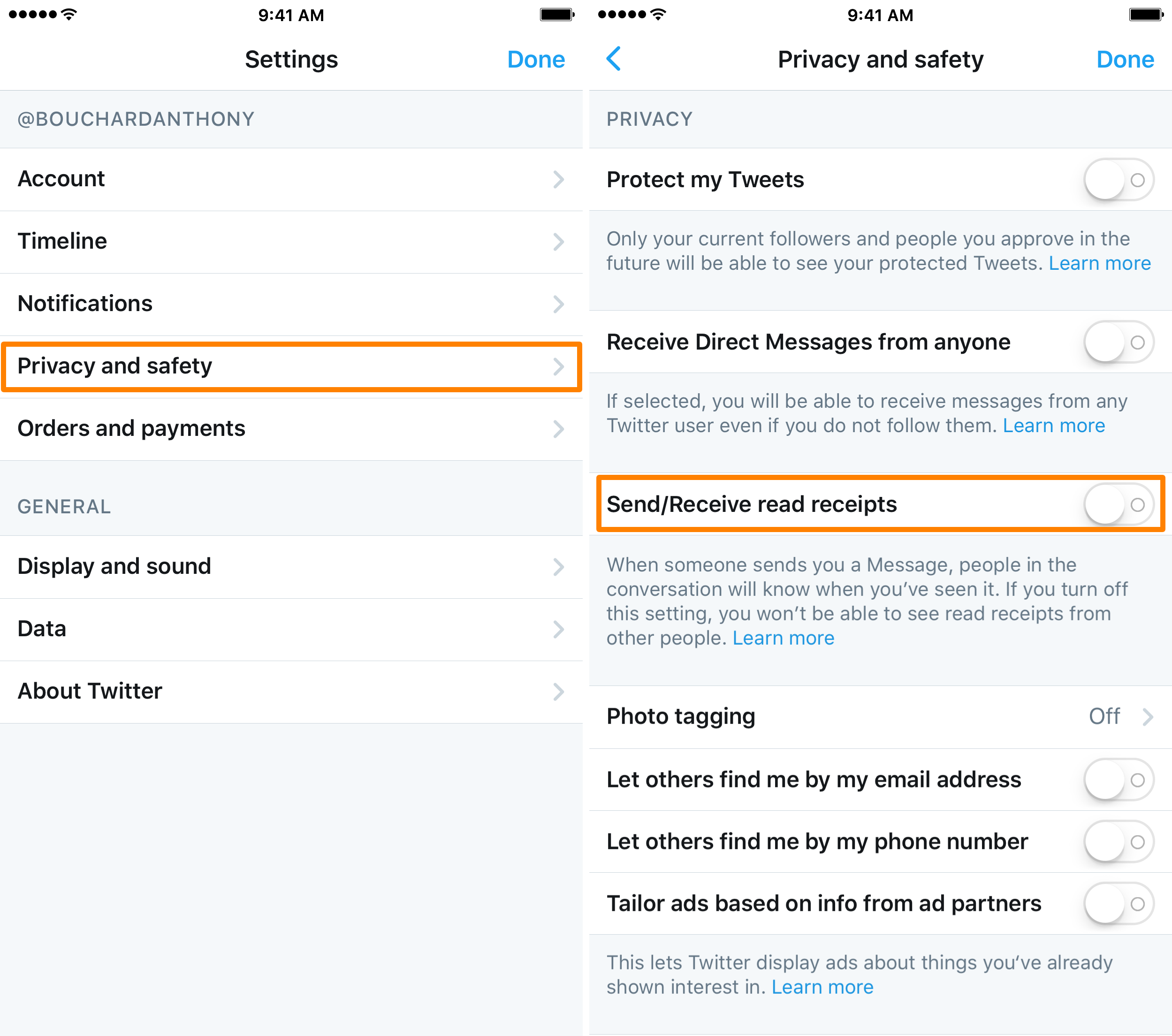 Twitter Direct Message Read Receipts Disable in iOS App 2