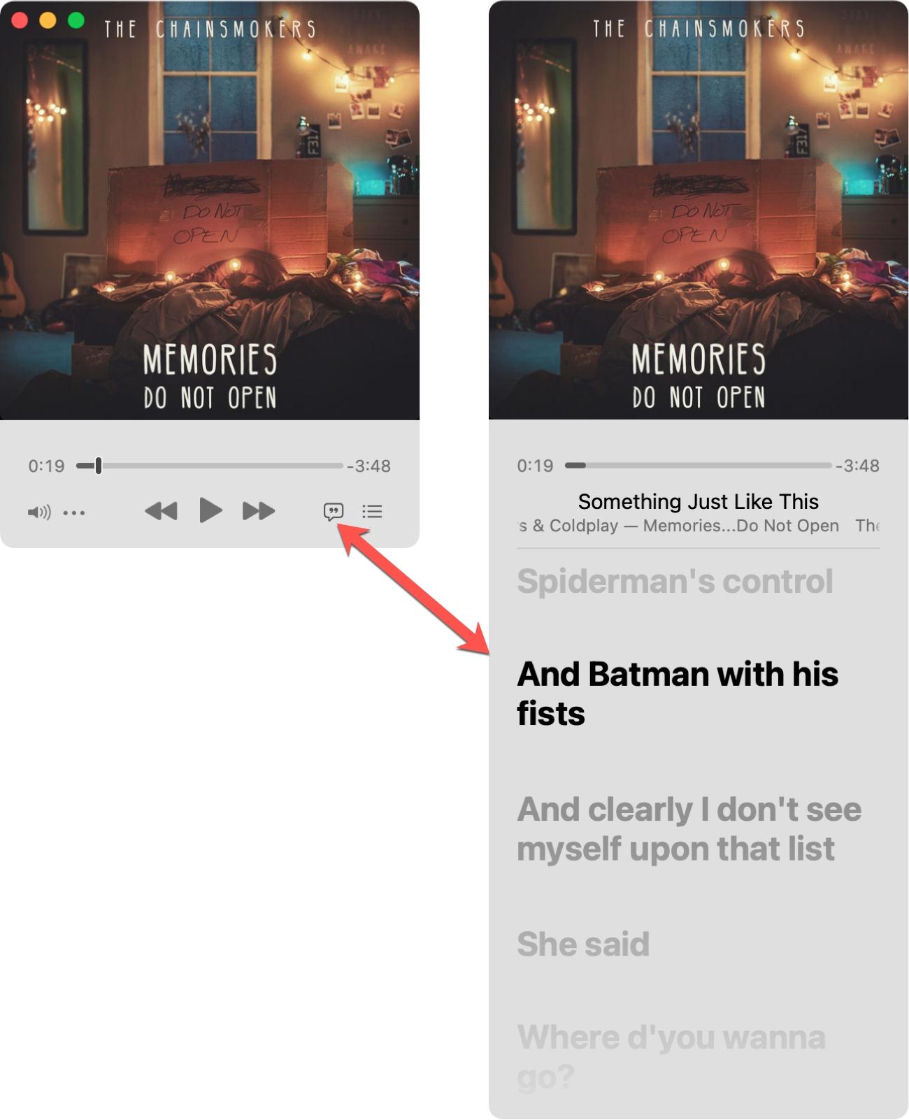 View Lyrics in the Music MiniPlayer on Mac