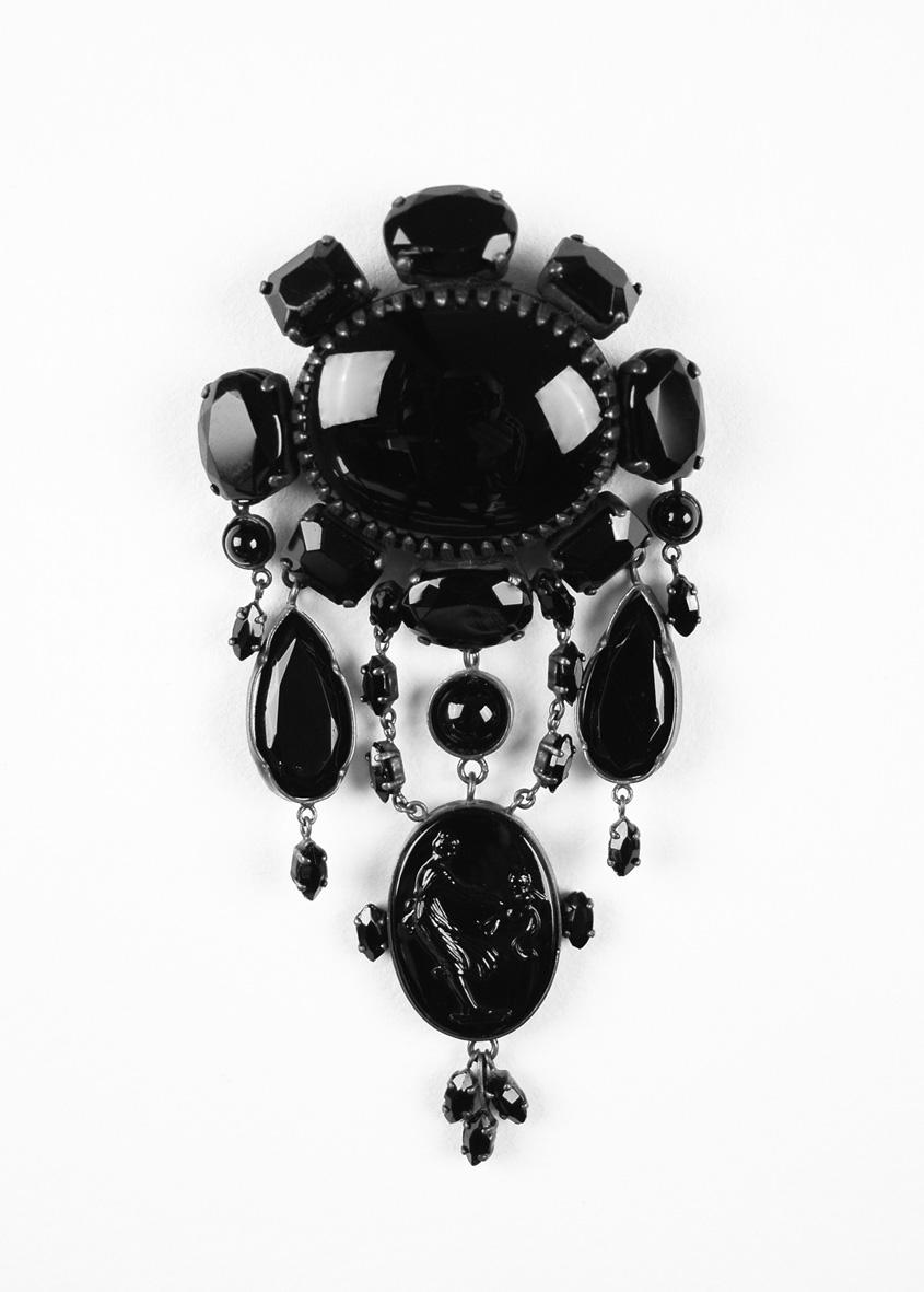 black brooch