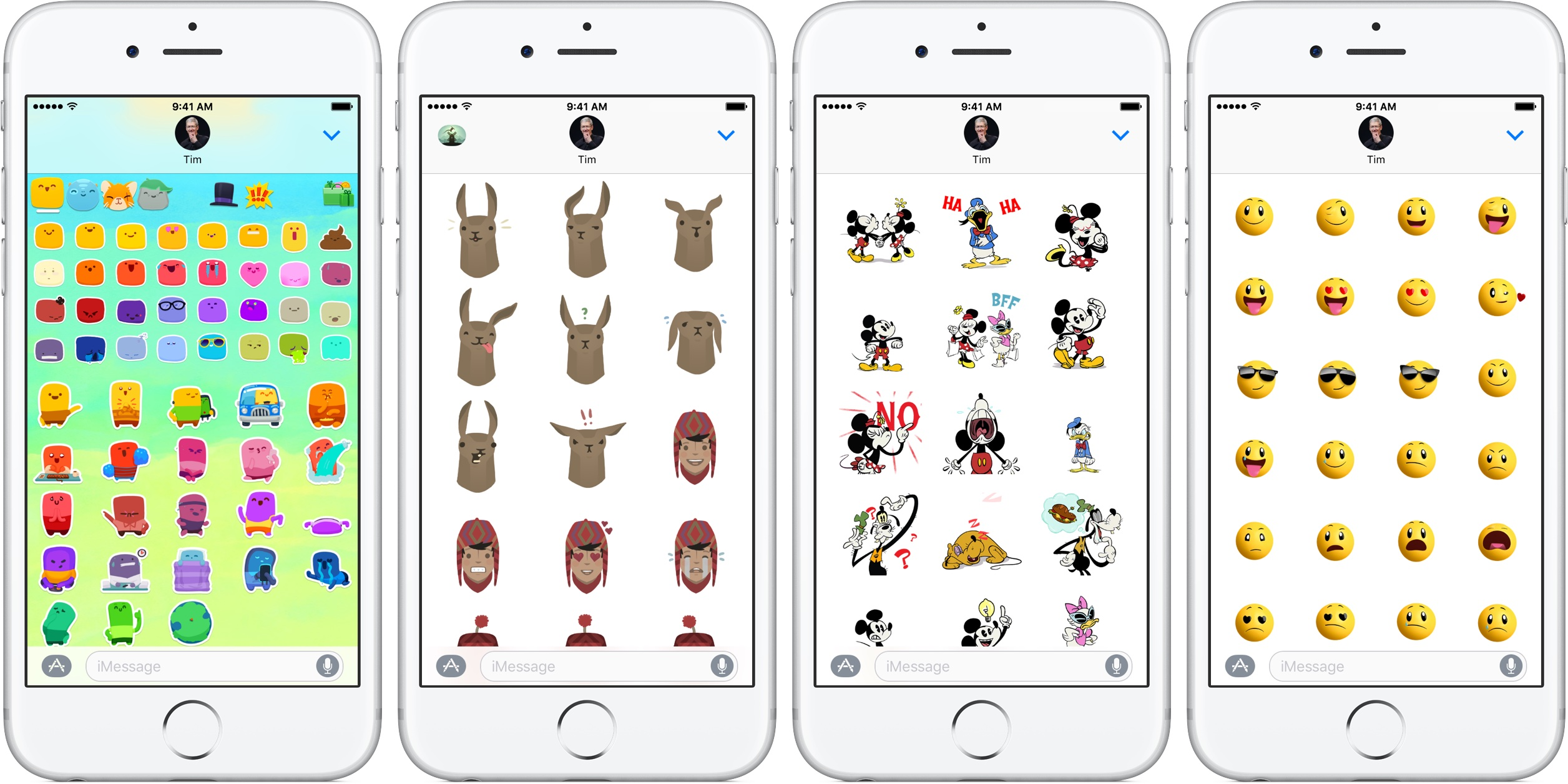 iOS 10 Messages App Store App Shelf browse stickers silver iPhone fullscreen screenshot 001