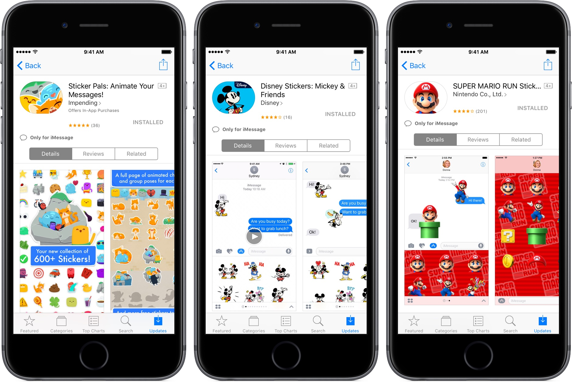 iOS 10 Messages App Store standalone sticker packs iPhone screenshot 002