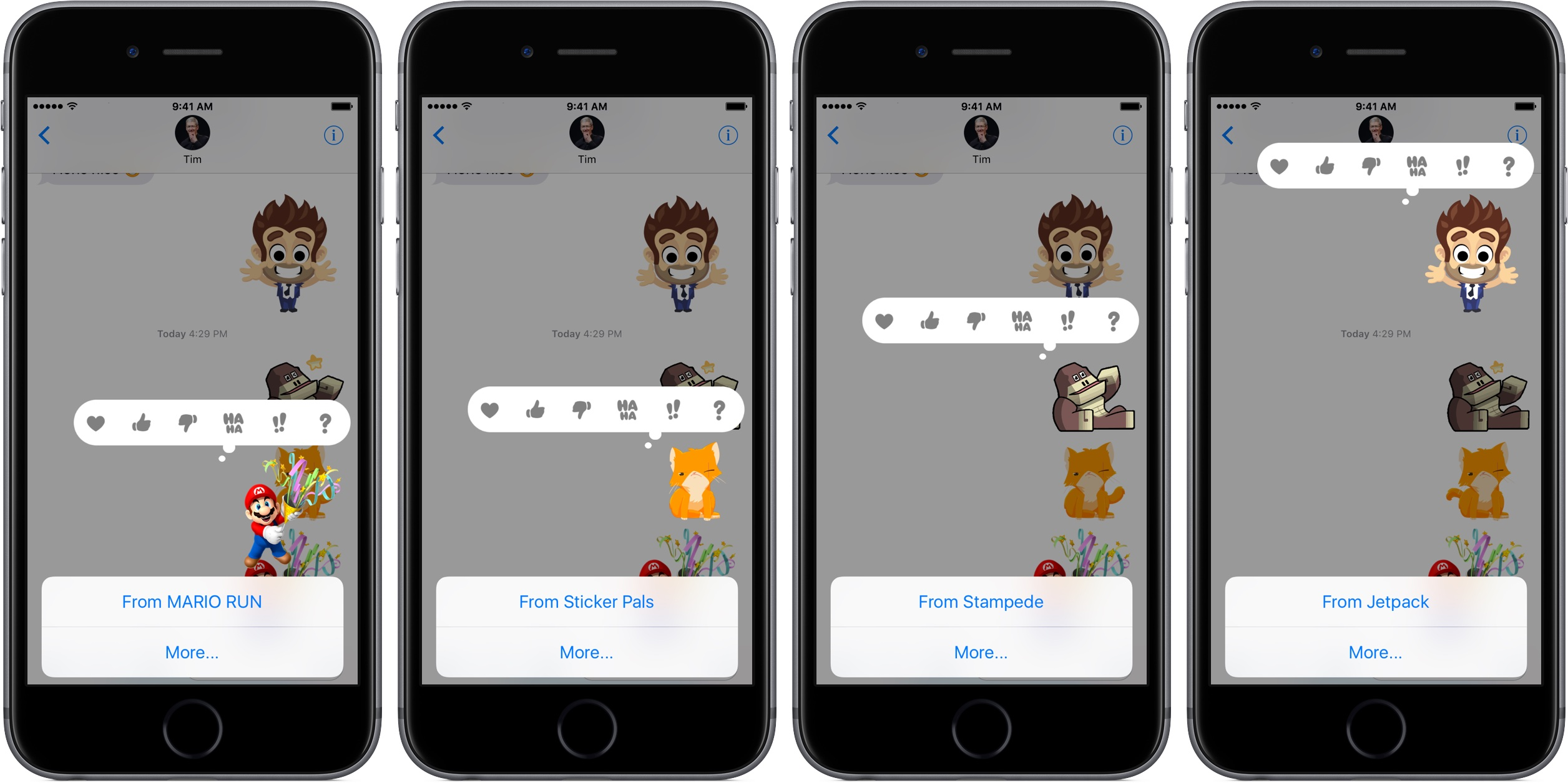 iOS 10 Messages download sticker packs from conversations space gray iPhone screenshots 001