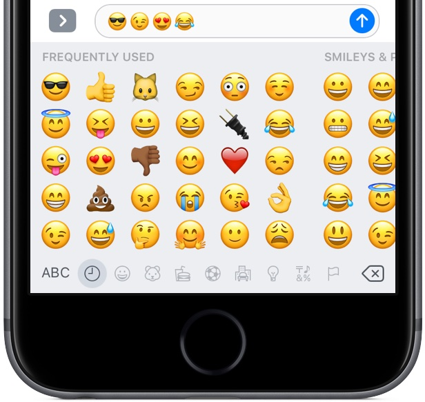 iOS 10 Messages emoji three times bigger space gray iPhone screenshot 002