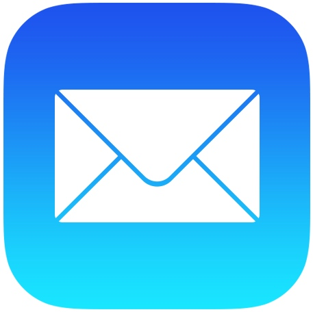 Image result for mail icon with with blue lines