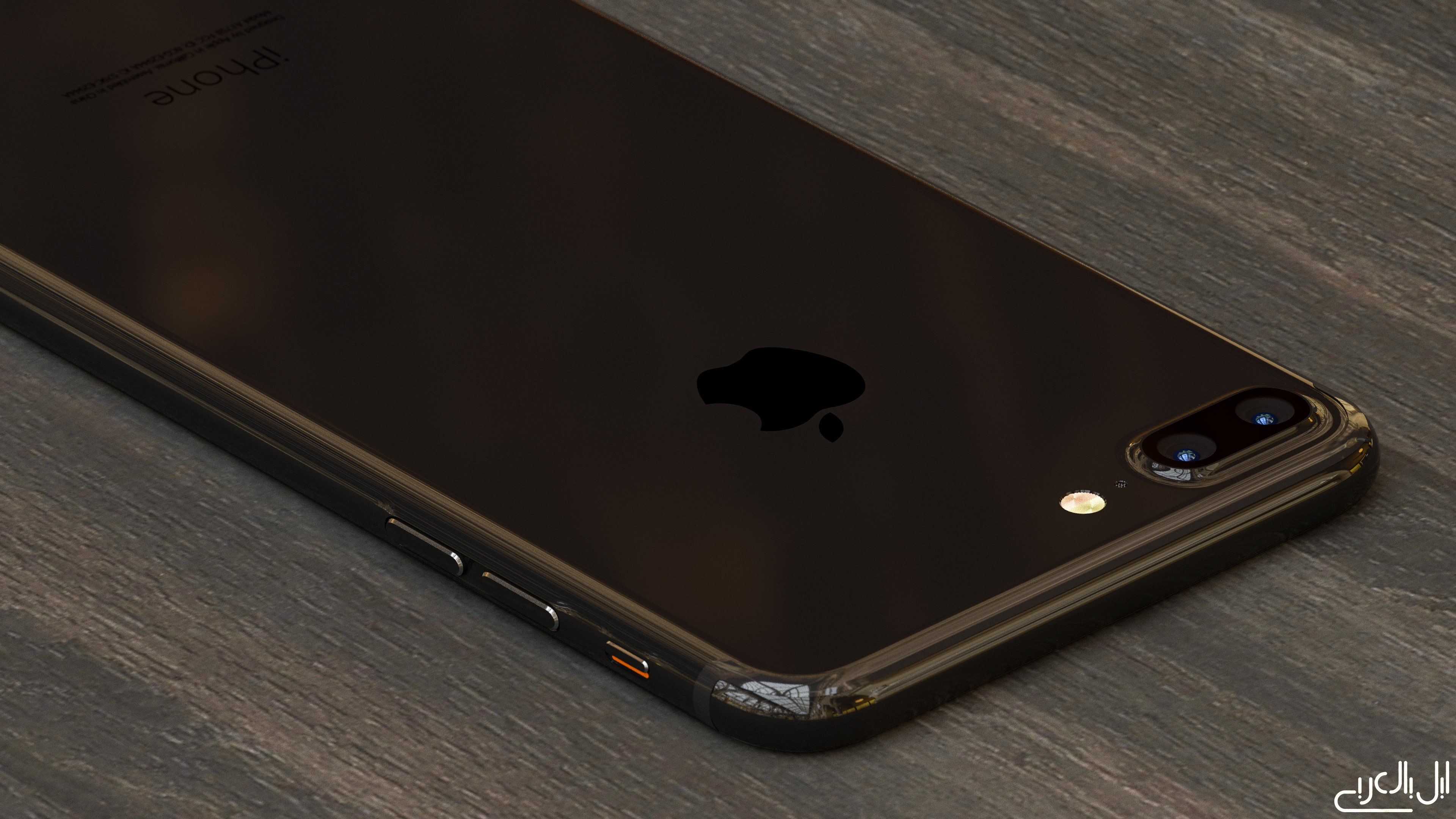 iPhone 7 Plus Piano Black AppleArab concept 003
