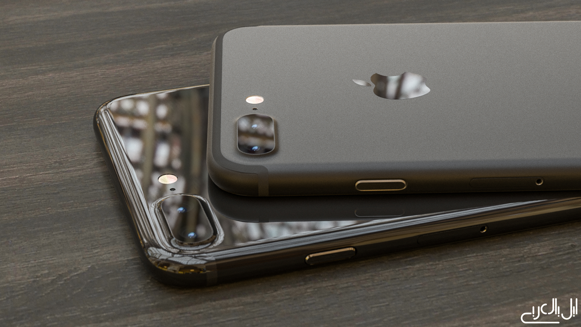 iPhone 7 Plus Piano and Dark Black AppleArab concept 001