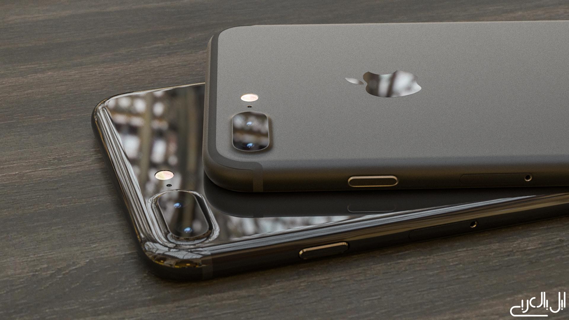 iPhone 7 Plus Piano and Dark Black AppleArab concept 001