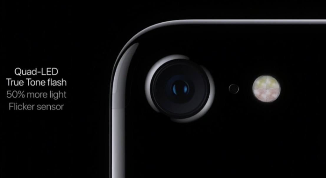 iPhone 7 camera quad flash