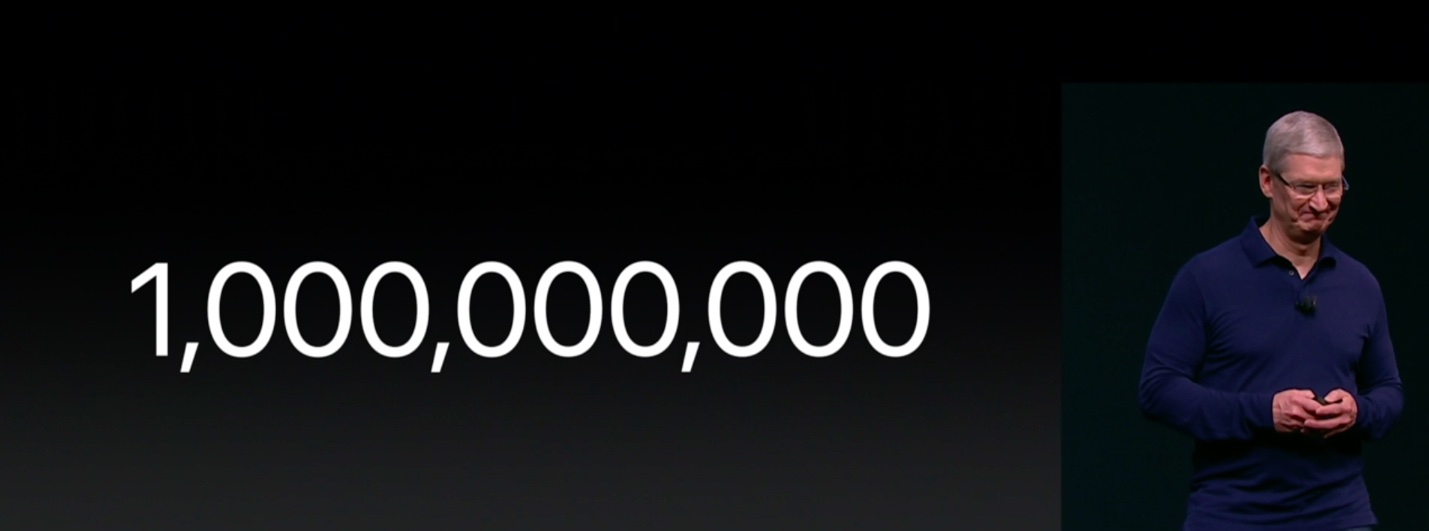 iPhone 7 event one billion iPhones sold slide 001