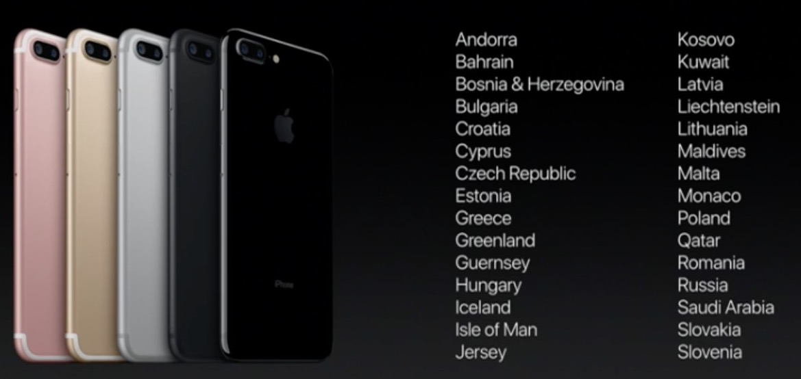 iPhone 7 launch countries week 2