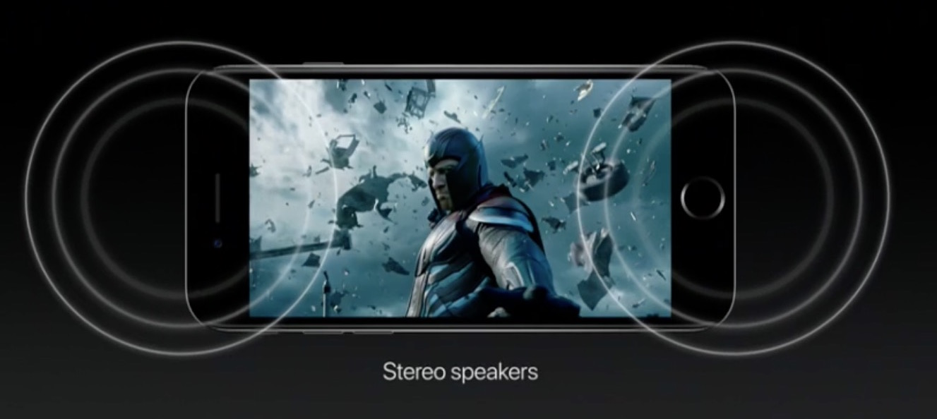iPhone 7 stereo speakers