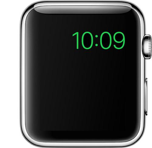 reloj-pantalla de reserva de energía