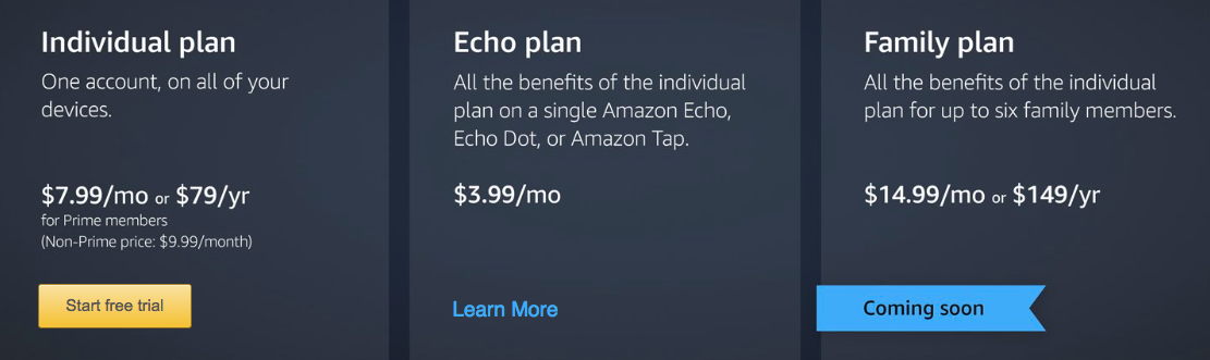 Amazon Music Unlimited pricing 001