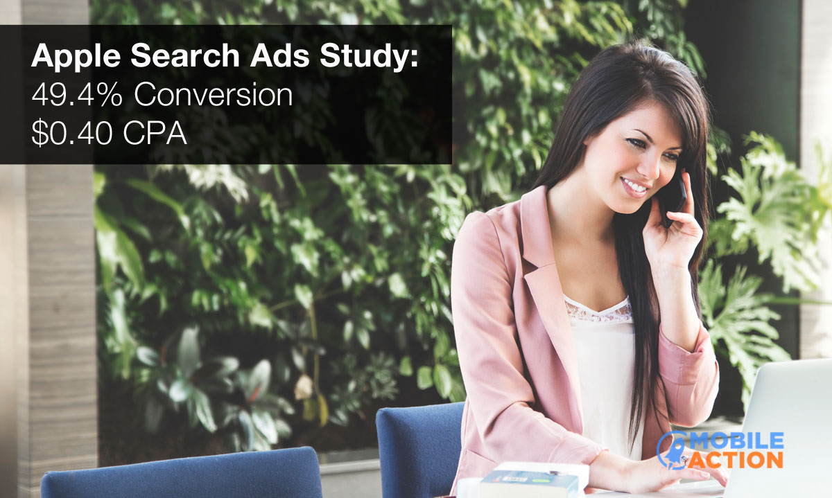 App Store search ads study Mobile Action teaser 001