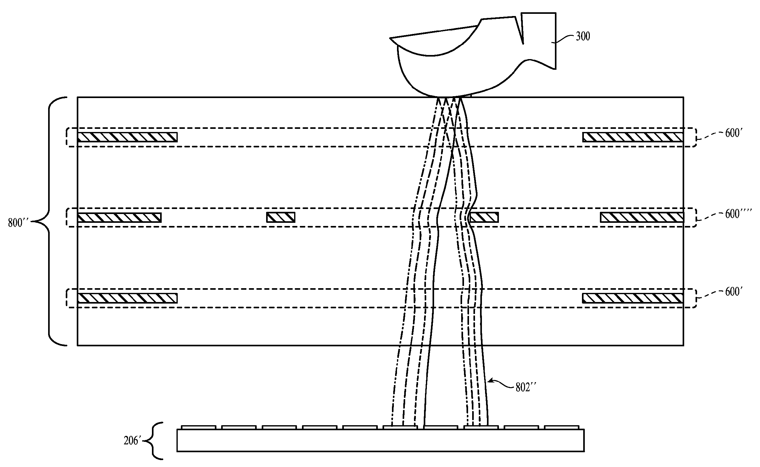 Apple patent Touch ID behind display drawing 002