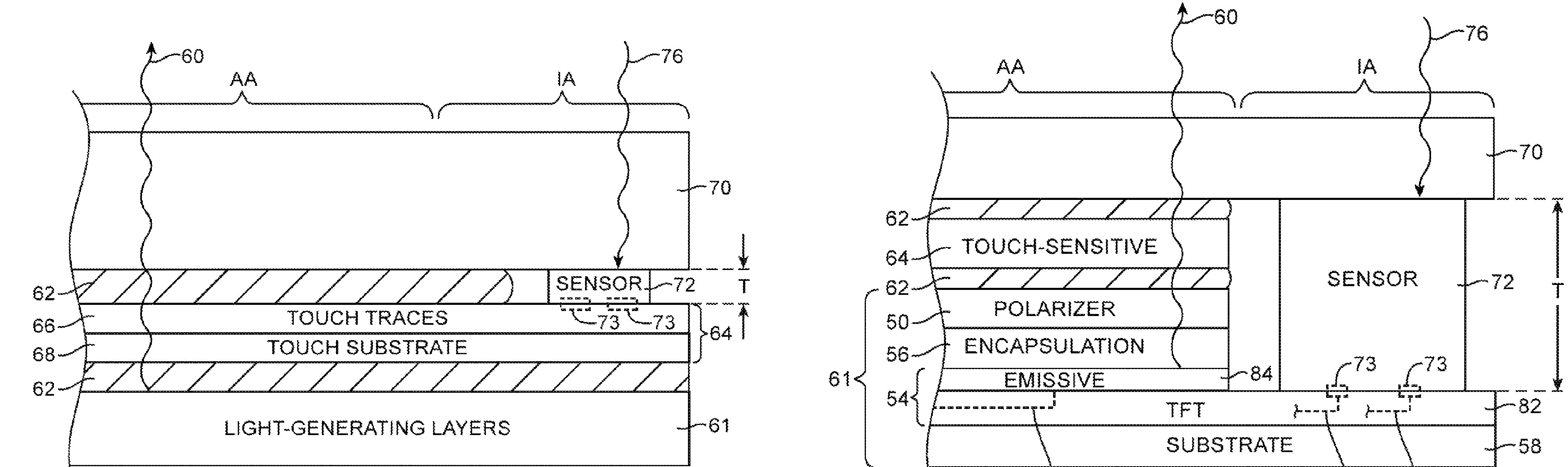 Apple patent light sensors embedded into display drawing 001