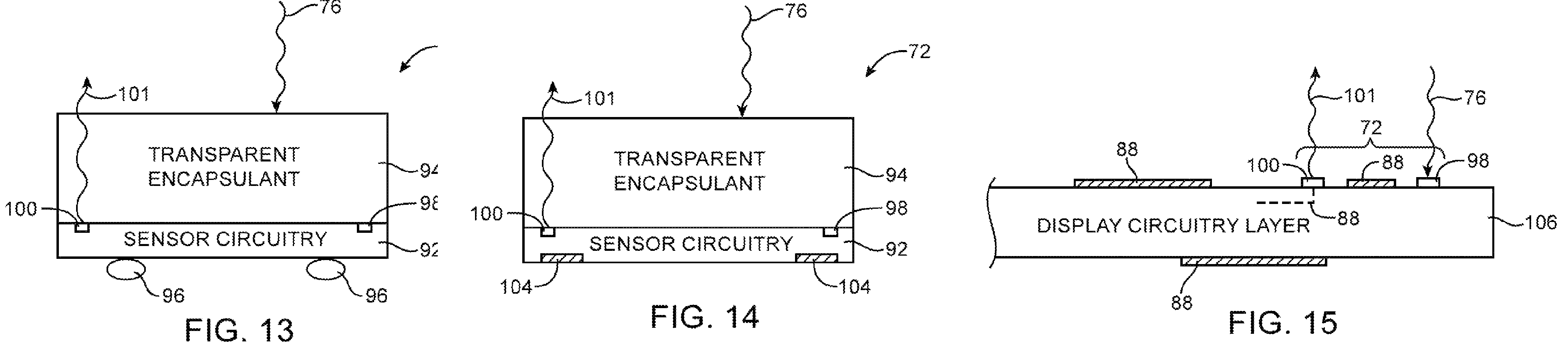 Apple patent light sensors embedded into display drawing 002