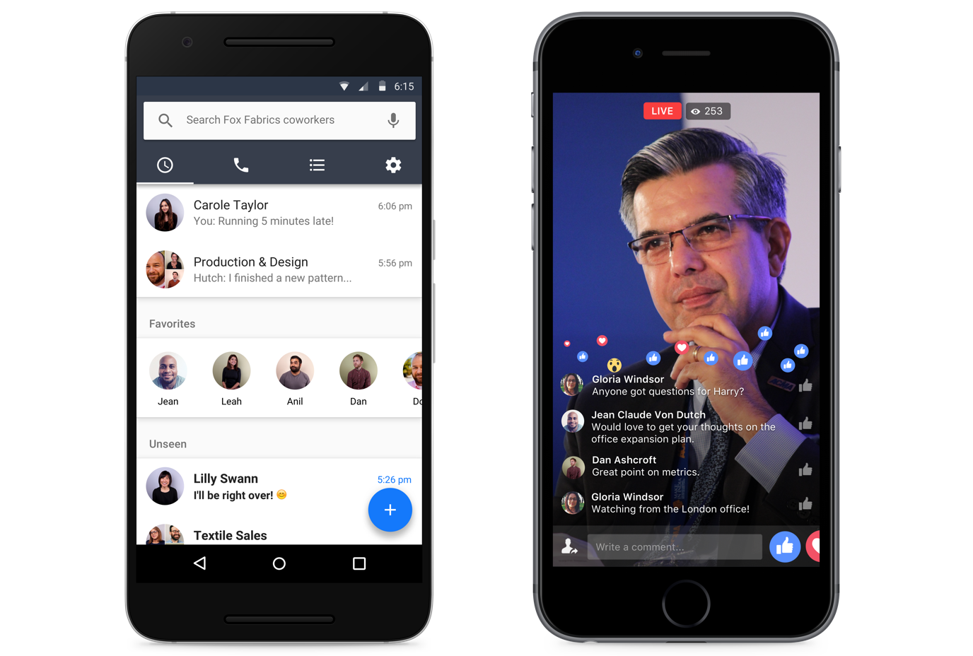 Facebook Workplace 1.0 for iOS chat teaser 001