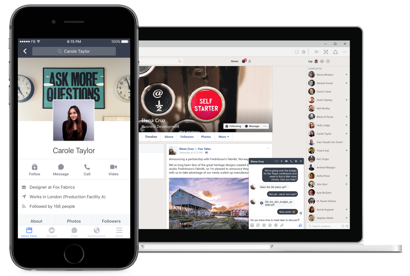 Facebook Workplace 1.0 for iOS profile teaser 001