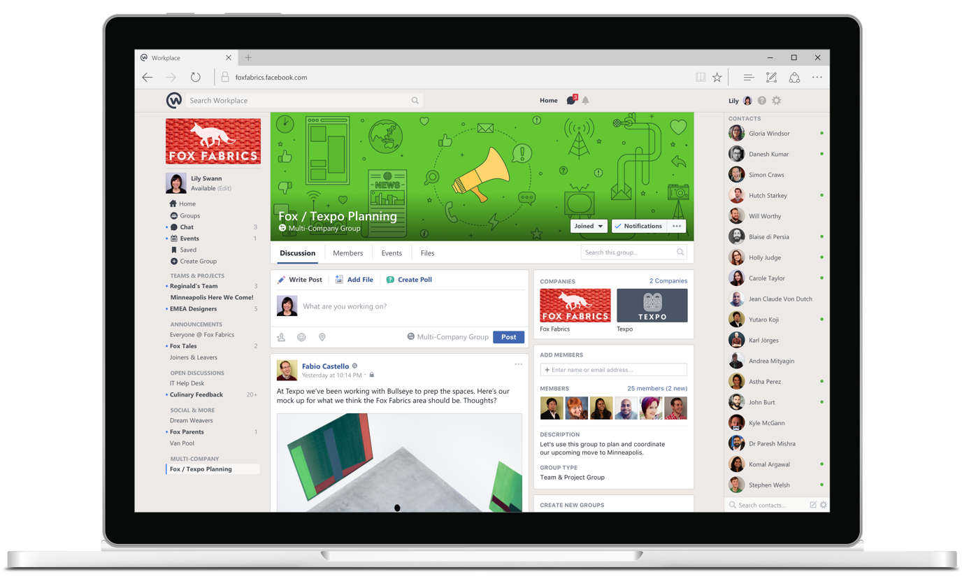 Facebook Workplace web app teaser 001