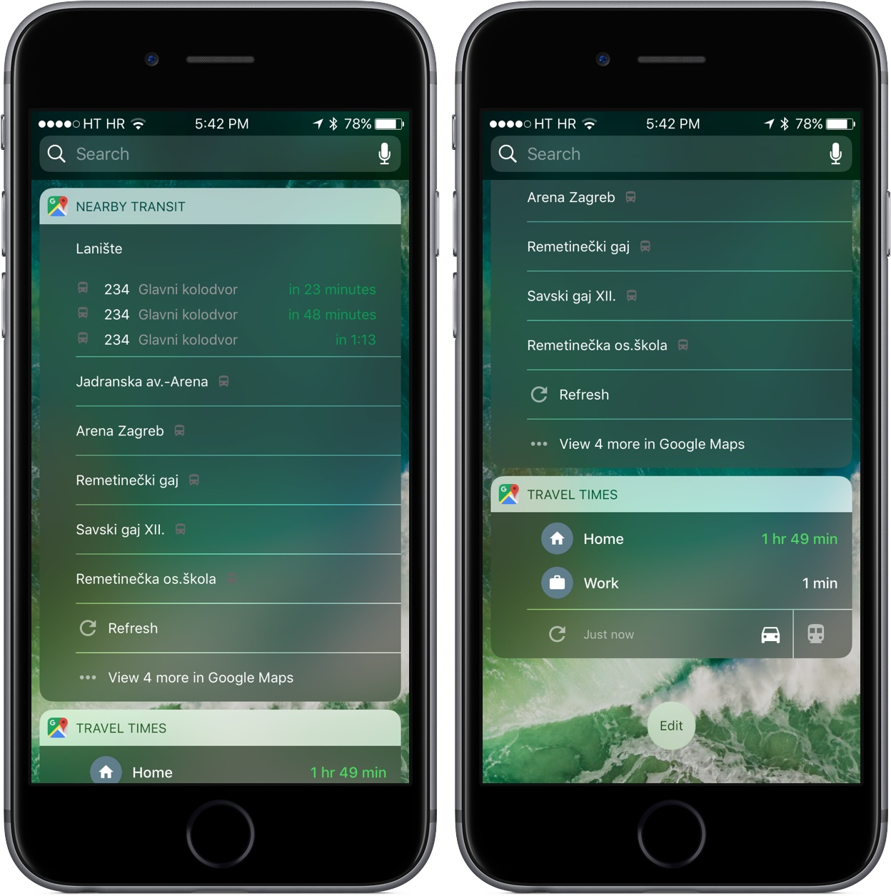 Google Maps for iOS 4.23 iOS 9 widgets iPHone screenshot 001