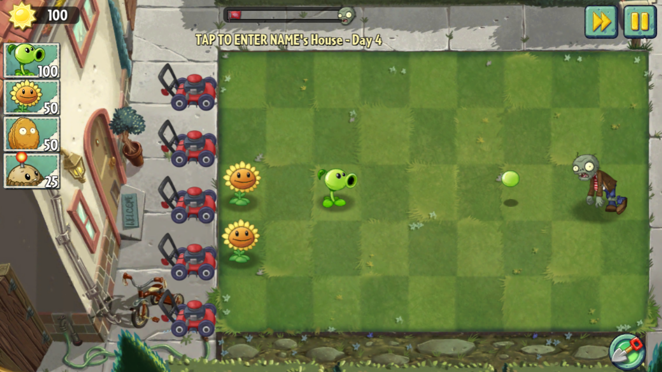 Halloween Plants vs Zombies 2