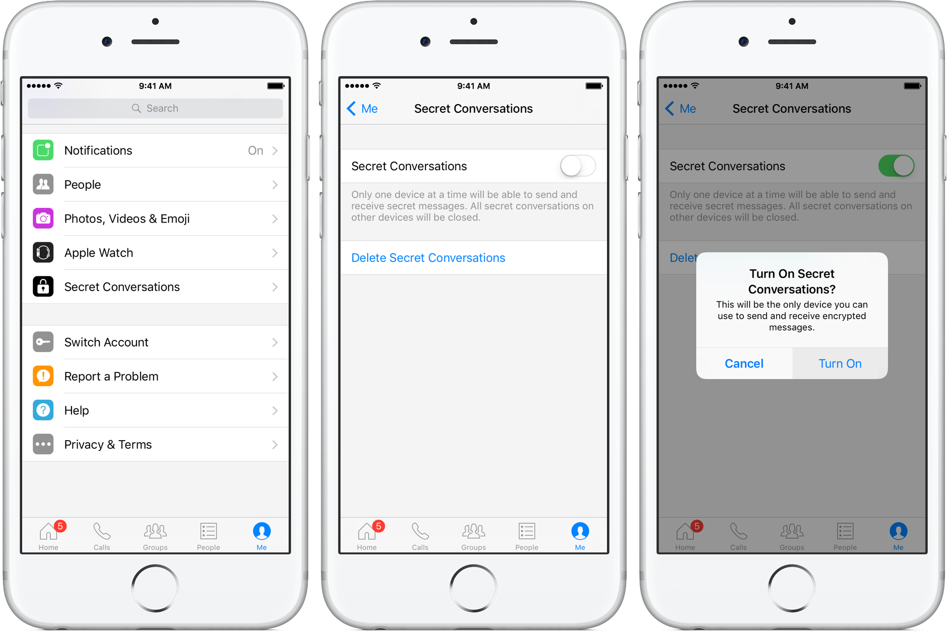 How to Secret Conversations Facebook Messenger iPhone screenshot 002