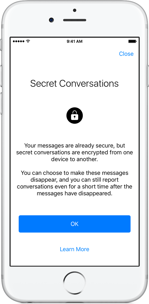 How to Secret Conversations Facebook Messenger iPhone screenshot 004
