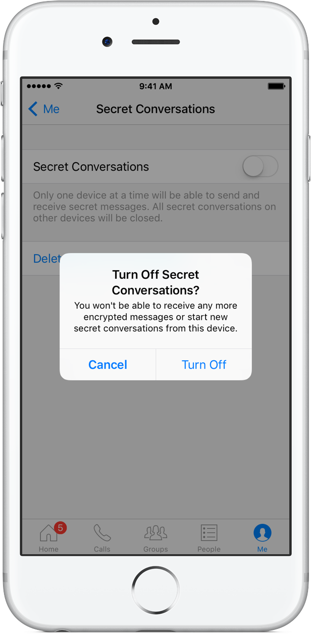How to Secret Conversations Facebook Messenger iPhone screenshot 005