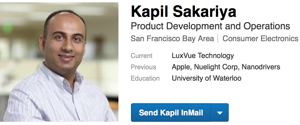 Kapil Sakariya Linked In profile