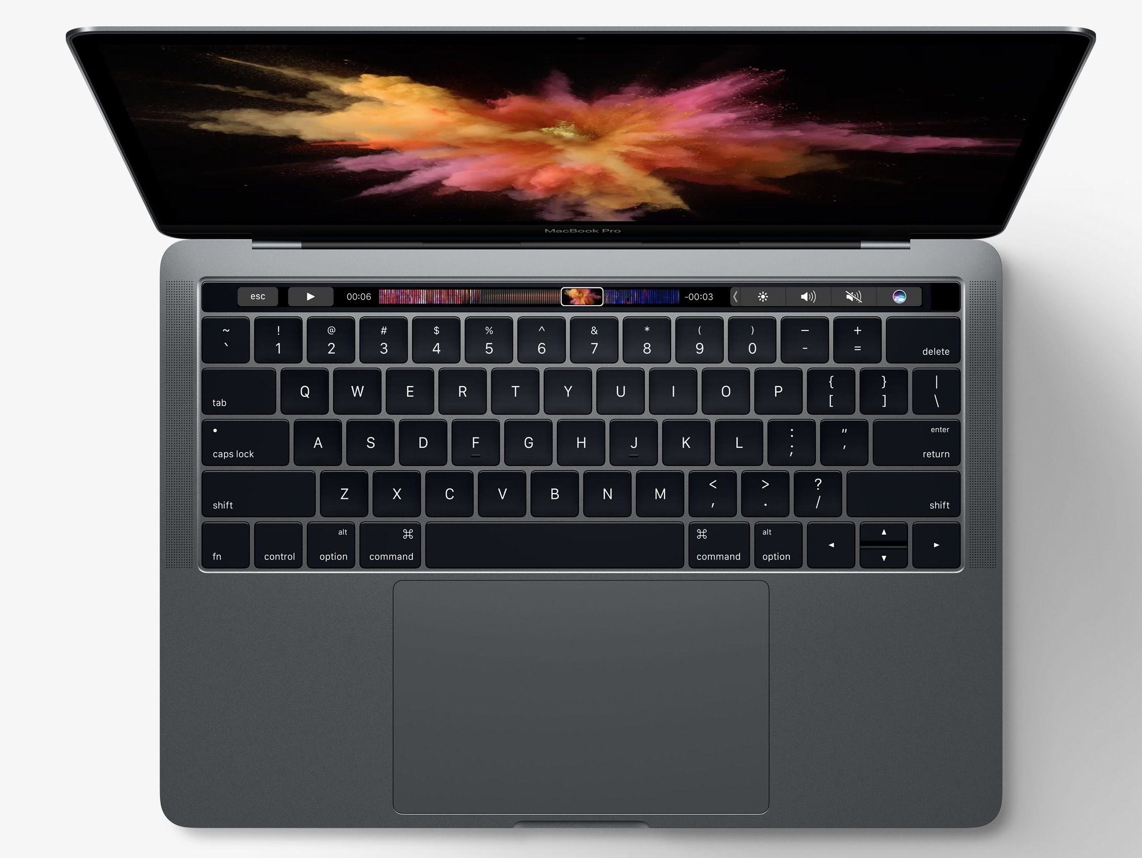 MacBook Pro top touch bar