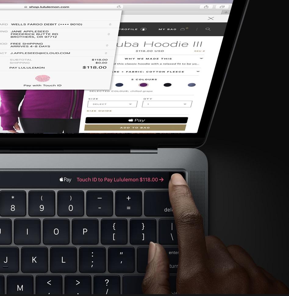 Identificación táctil del MacBook Pro