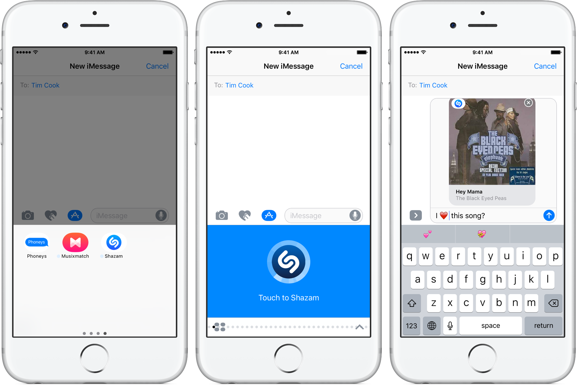 Identifying songs inside iOS 10 Messages with Shazam's new
