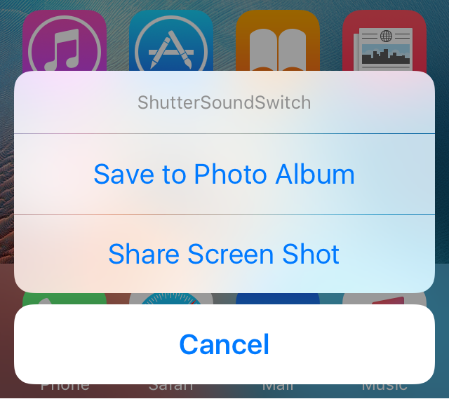ShutterSoundSwitch Prompt