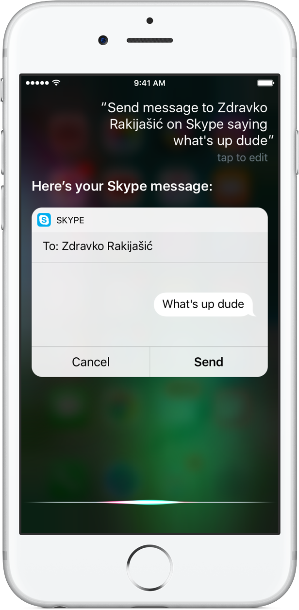 Skype 6.27.1 para iOS Siri integración iPHone captura de pantalla 001