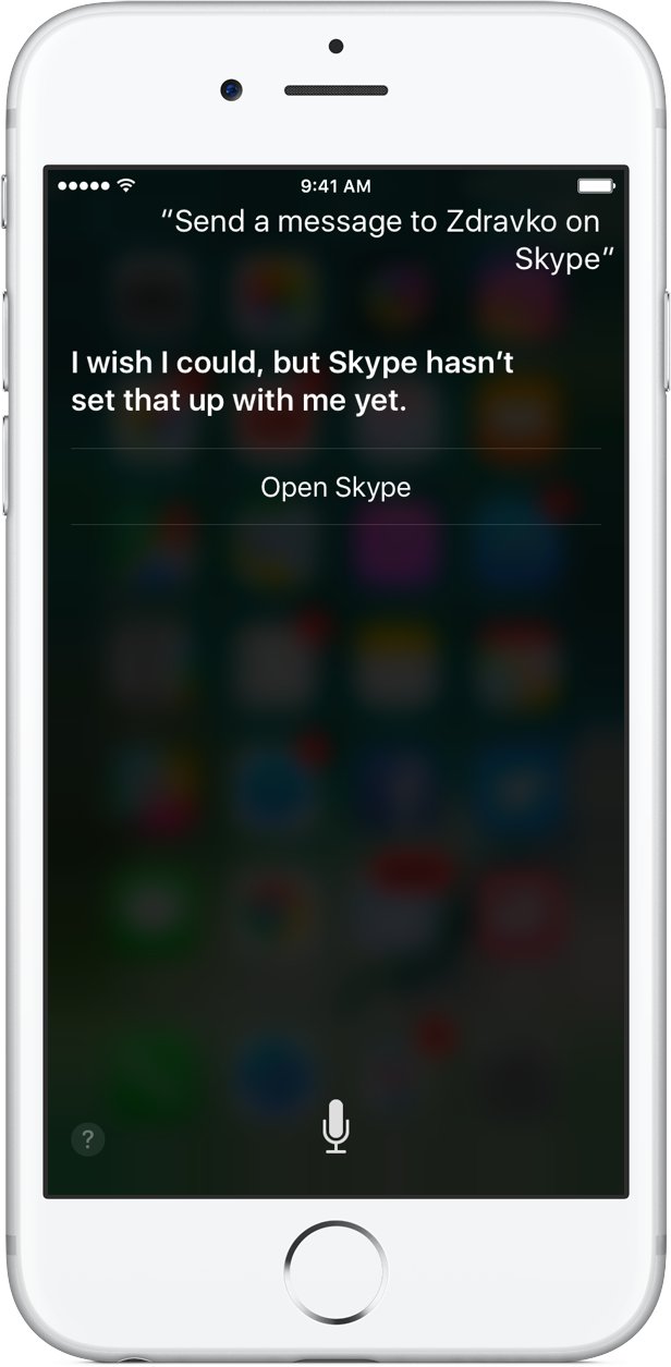 Skype 6.27.1 para iOS Siri integración iPHone captura de pantalla 002
