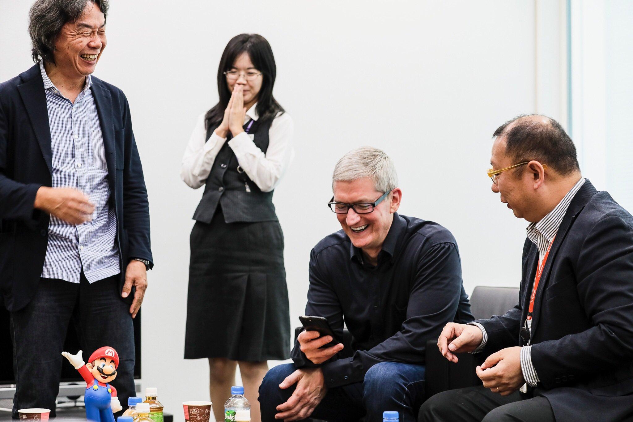 Tim Cook Shigeru Miyamoto