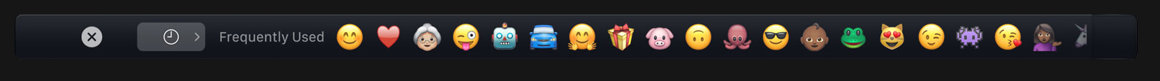 Touch Bar Emojis