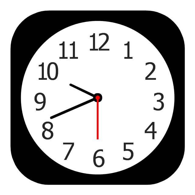 clock app icon - fix mac date and time wrong