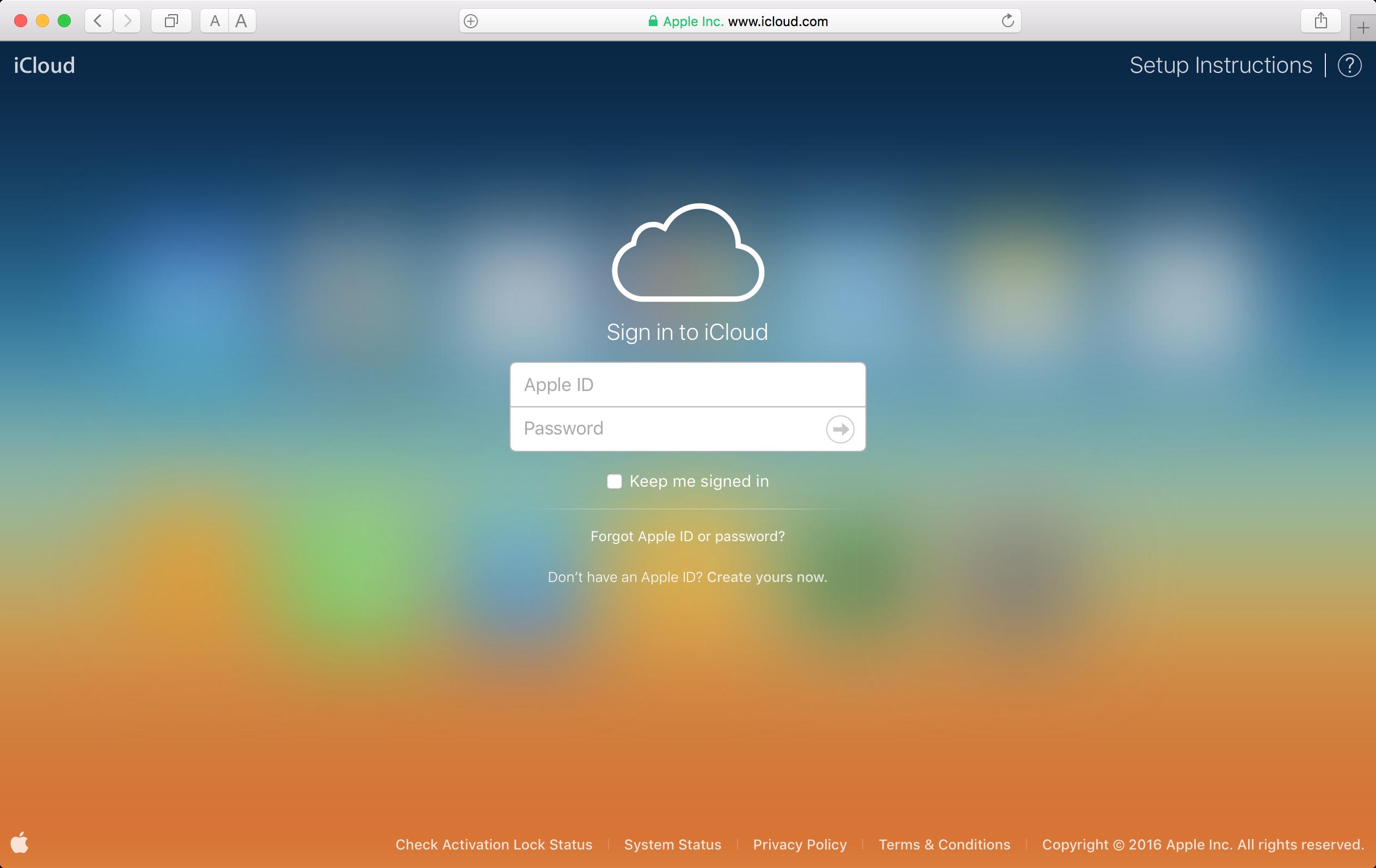 iCloud Log In