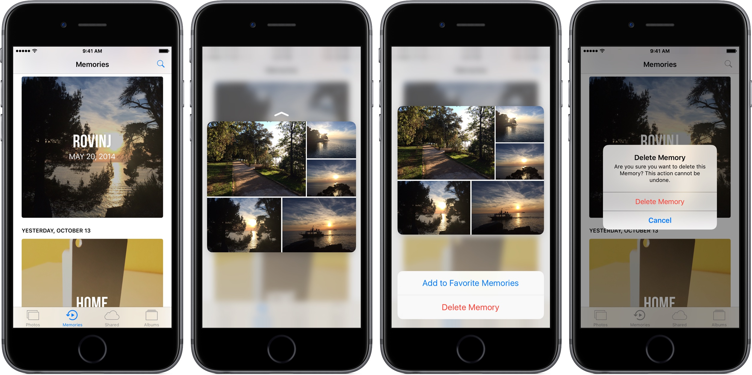 iOS 10 Memories borrar la captura de pantalla 3D Touch iPhone 001