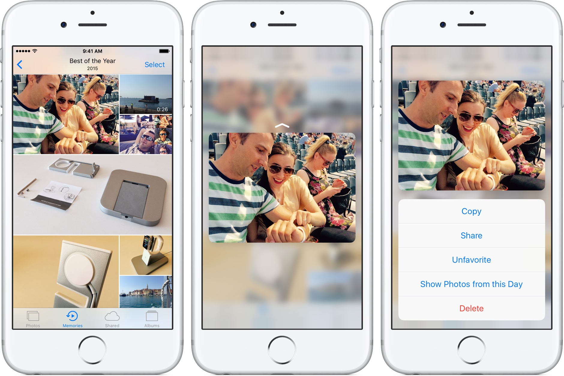 iOS 10 Memories ver foto Captura de pantalla 3D Touch iPhone 001