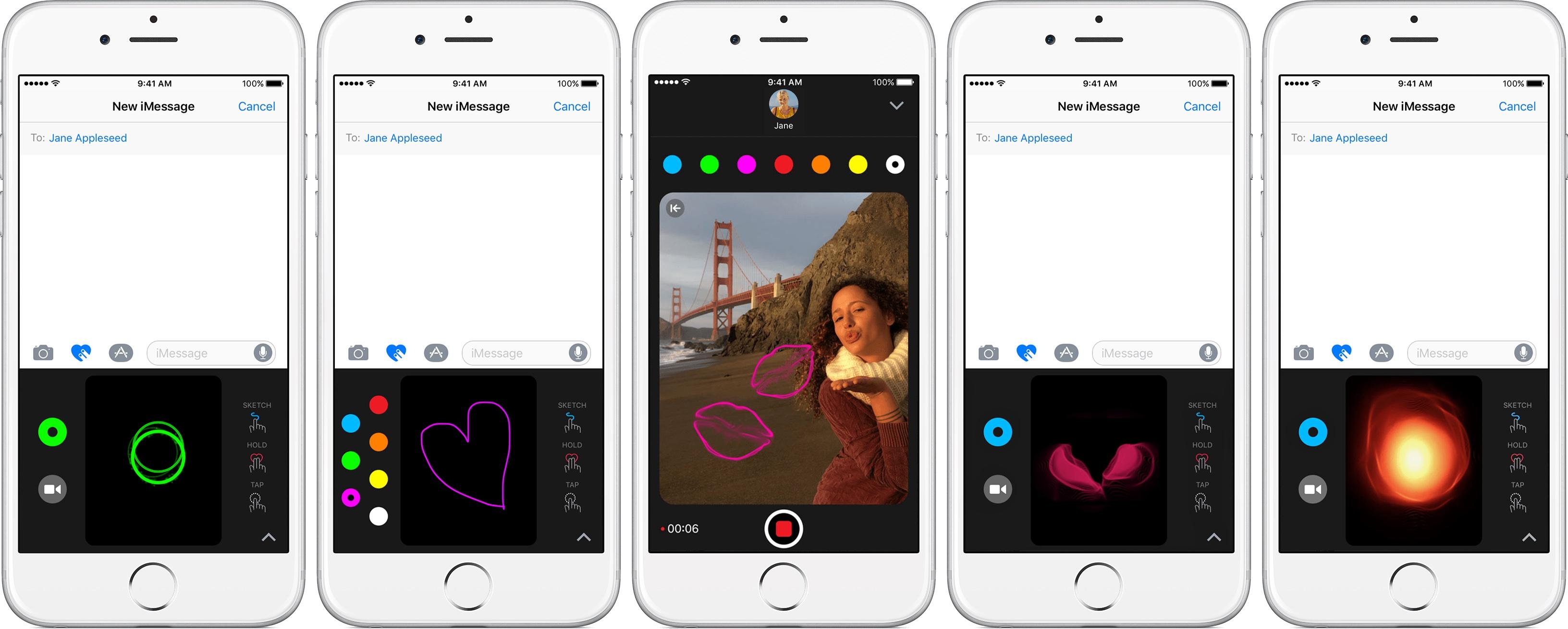 Teaser táctil digital de mensajes de iOS 10