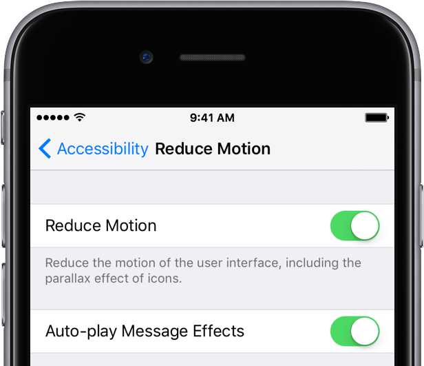 iOS 10 Messages effects Reduce Motion iPhone screenshot 002