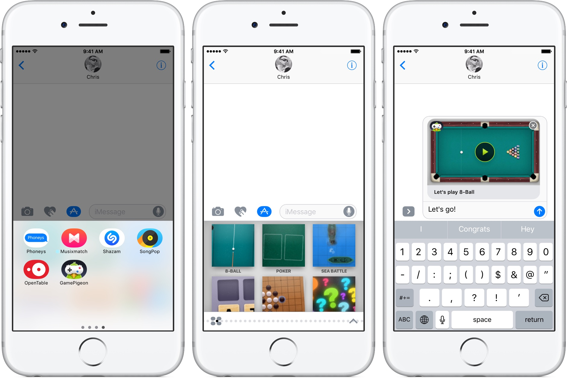 iOS 10 Messages use iMessage apps iPhone screenshot 002