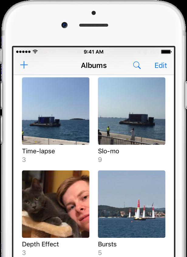 iOS 10 Photos Depth Effect album iPhone screenshot 001