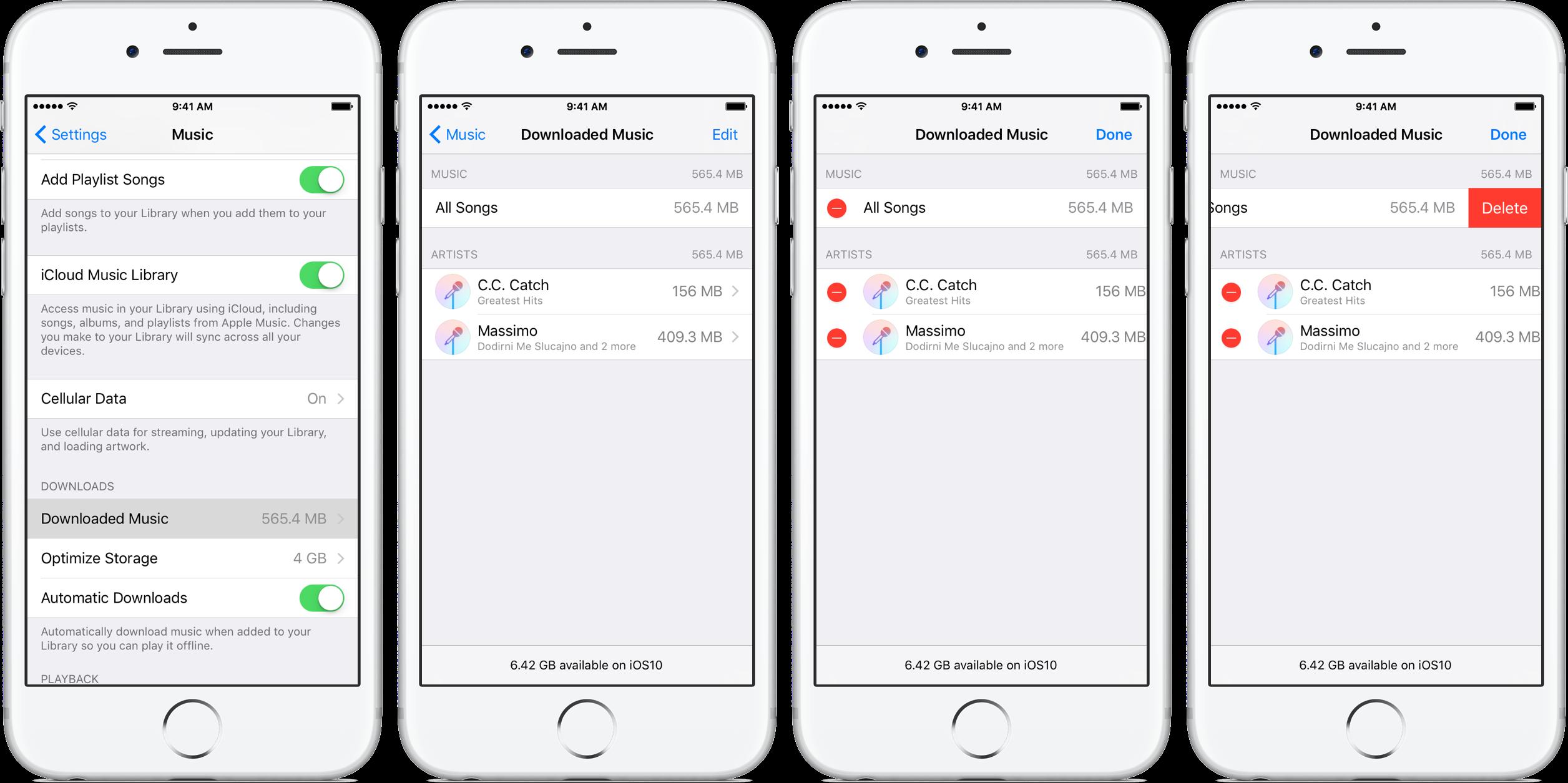 iOS 10 optimize music storage iPhone screenshot 006